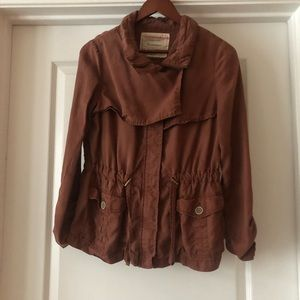 Anthropologie Brown Utility Jacket